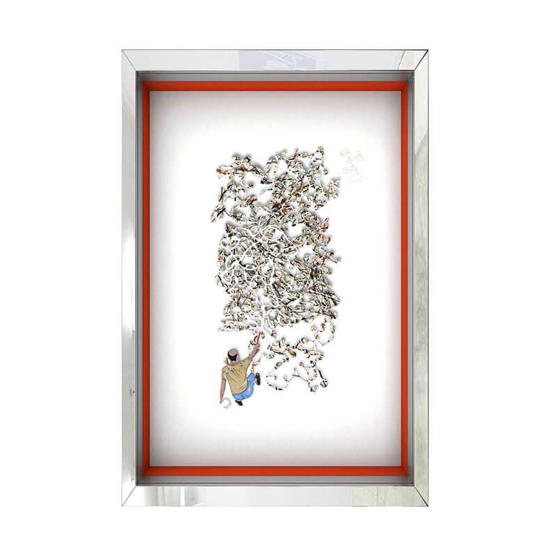 Homage to Jackson Pollock – Beige - David Kracov - Eden Gallery