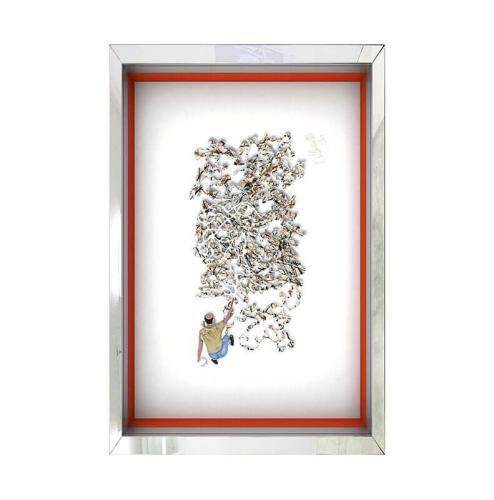 Homage to Jackson Pollock – Beige