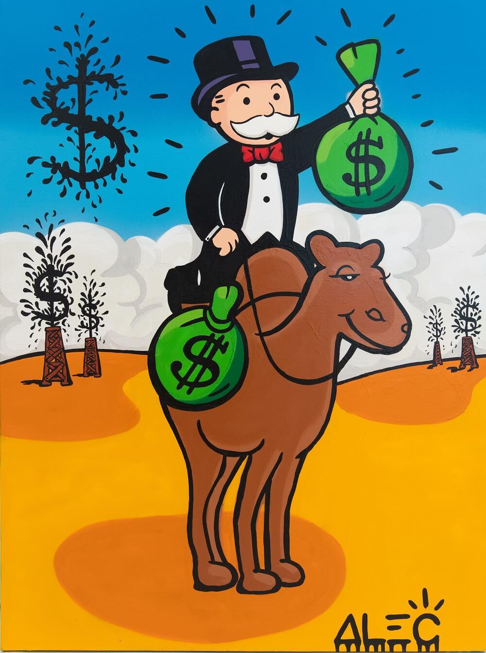 Monopoly $ Bags on Camel - Alec Monopoly - Eden Gallery