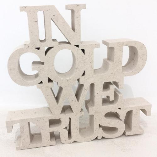 In Gold We Trust - Sculpture