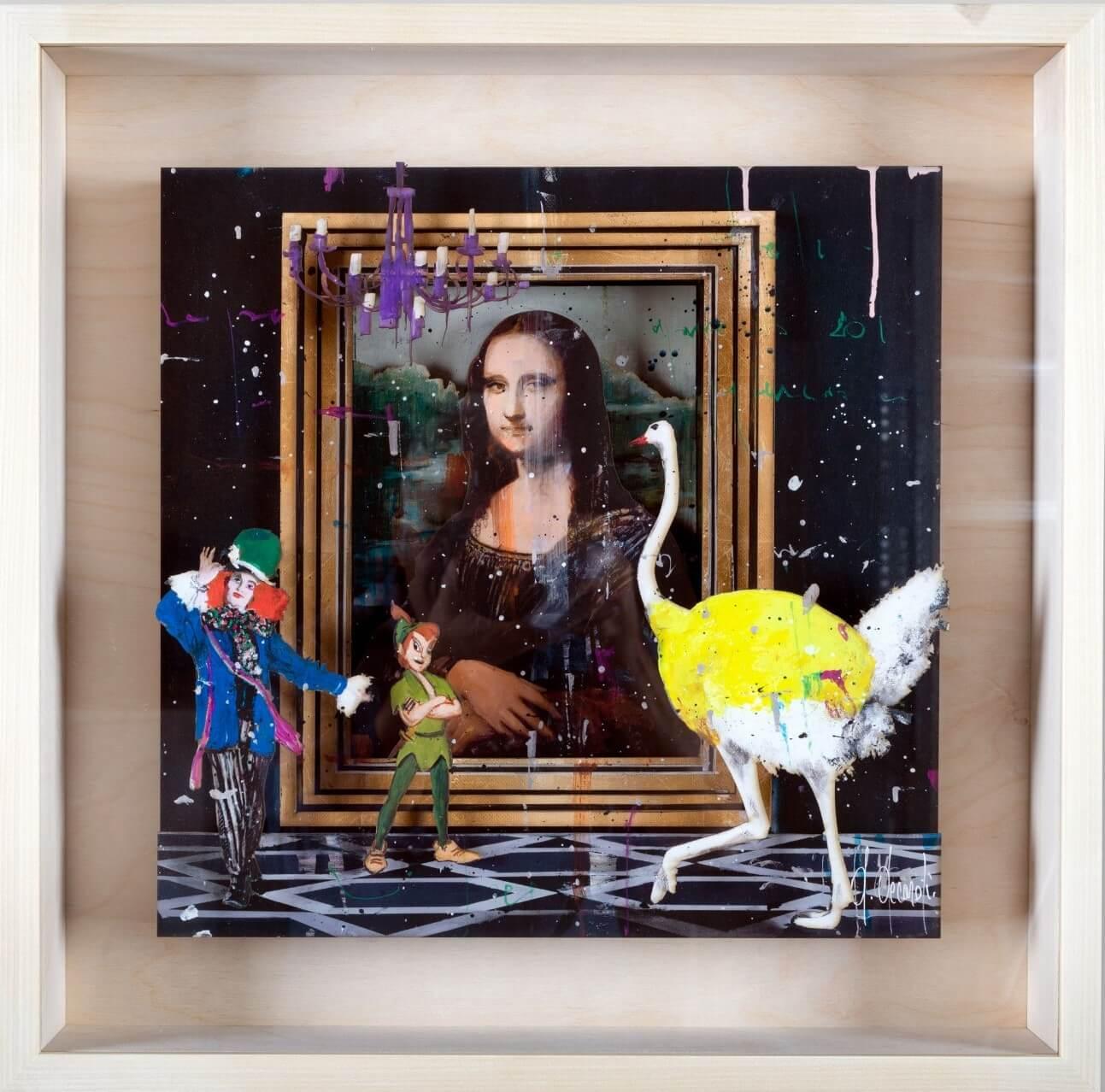 Mona Lisa Talk -Papercut - Angelo Accardi - Eden Gallery