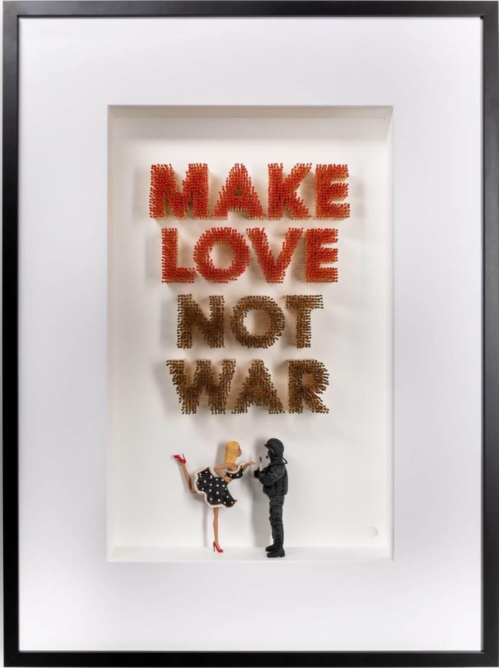 Make Love Not War  - Kunst met een R - Eden Gallery