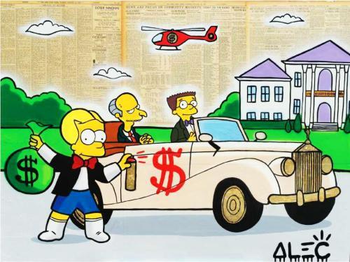 Bart Richie Tagging Mr Burns Car