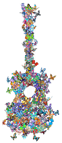 Butterfly Guitar Making Beautiful Music