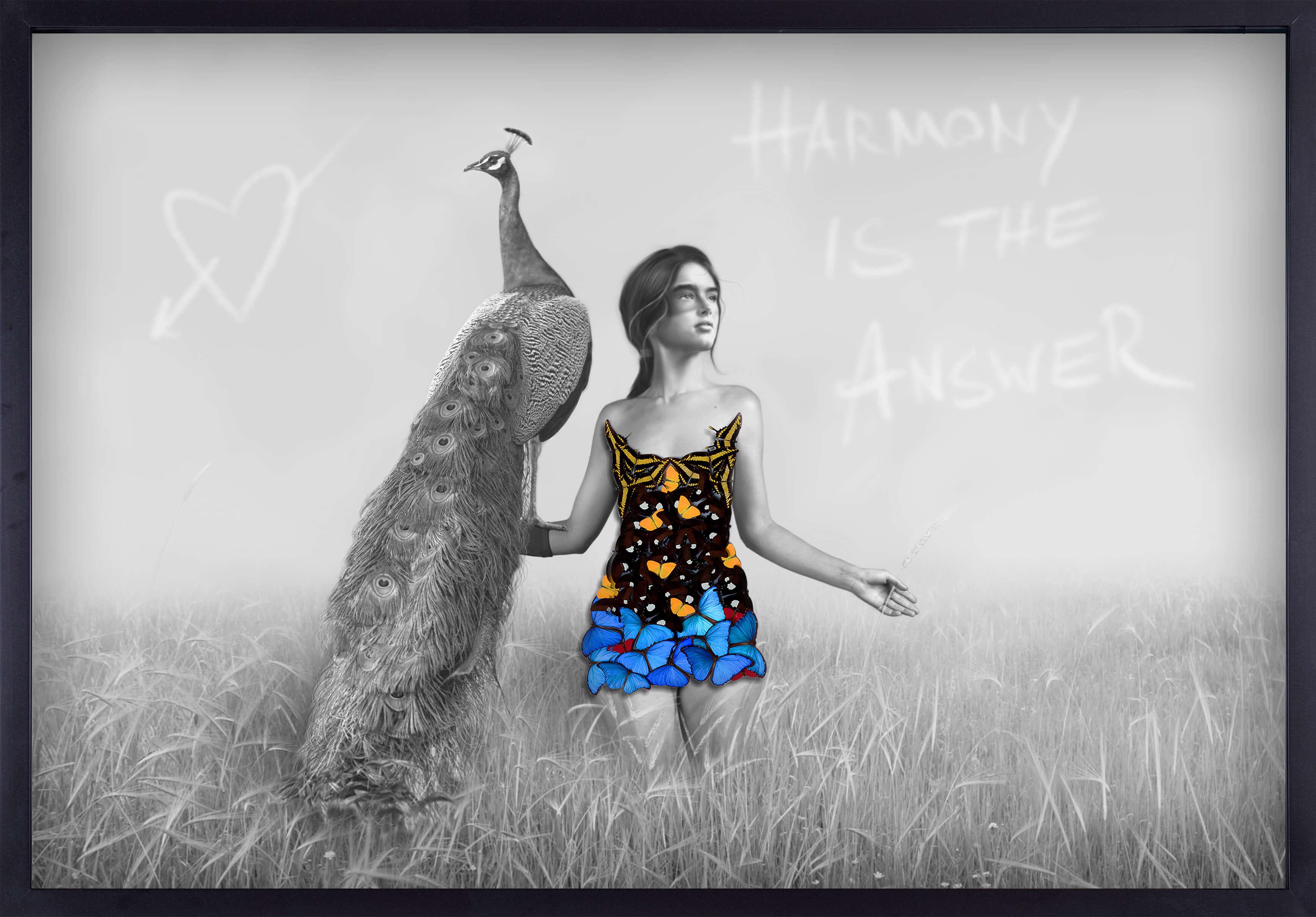 A Girl With a Peacock - Harmony - SN - Eden Gallery