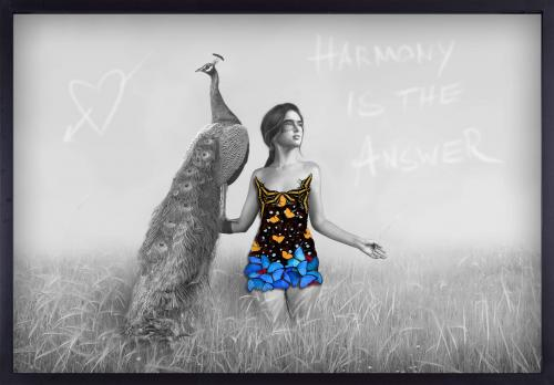 A Girl With a Peacock - Harmony