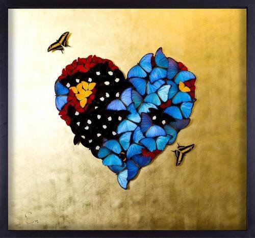 Golden Heart - Blue