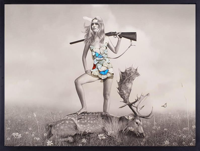 Beautiful Hunter & a Fallen Deer - SN - Eden Gallery