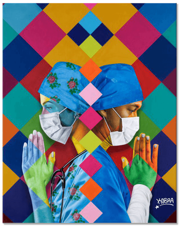 Enfermeiros - Eduardo Kobra - Eden Gallery