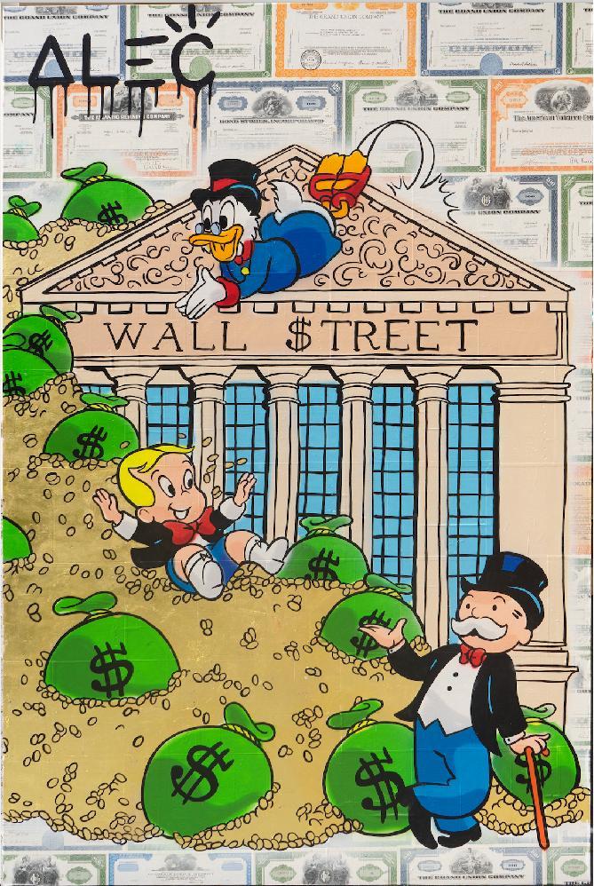 $ Team Outside Wall $treet  - Alec Monopoly - Eden Gallery