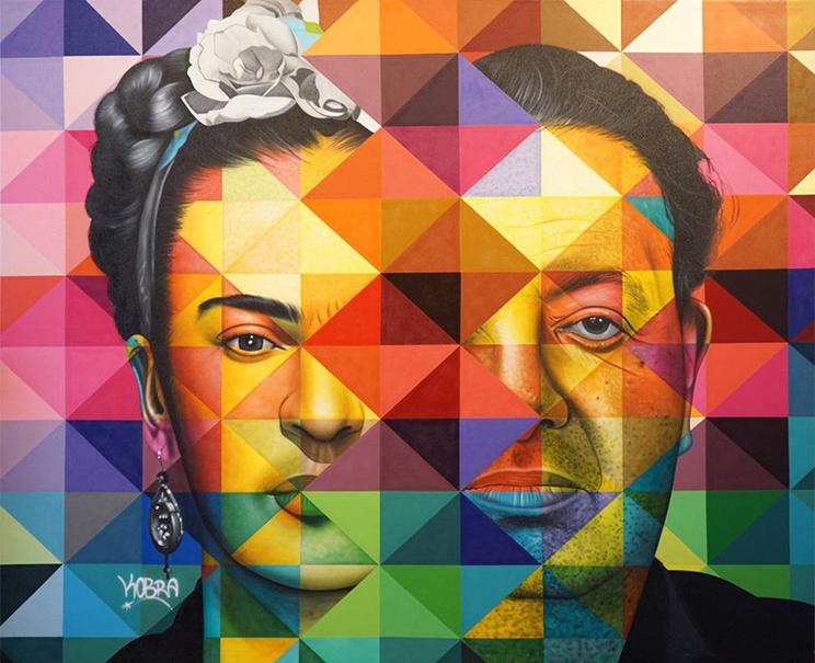 Frida & Diego - Eduardo Kobra - Eden Gallery