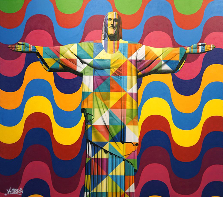 Christ Redeemer - Eduardo Kobra - Eden Gallery