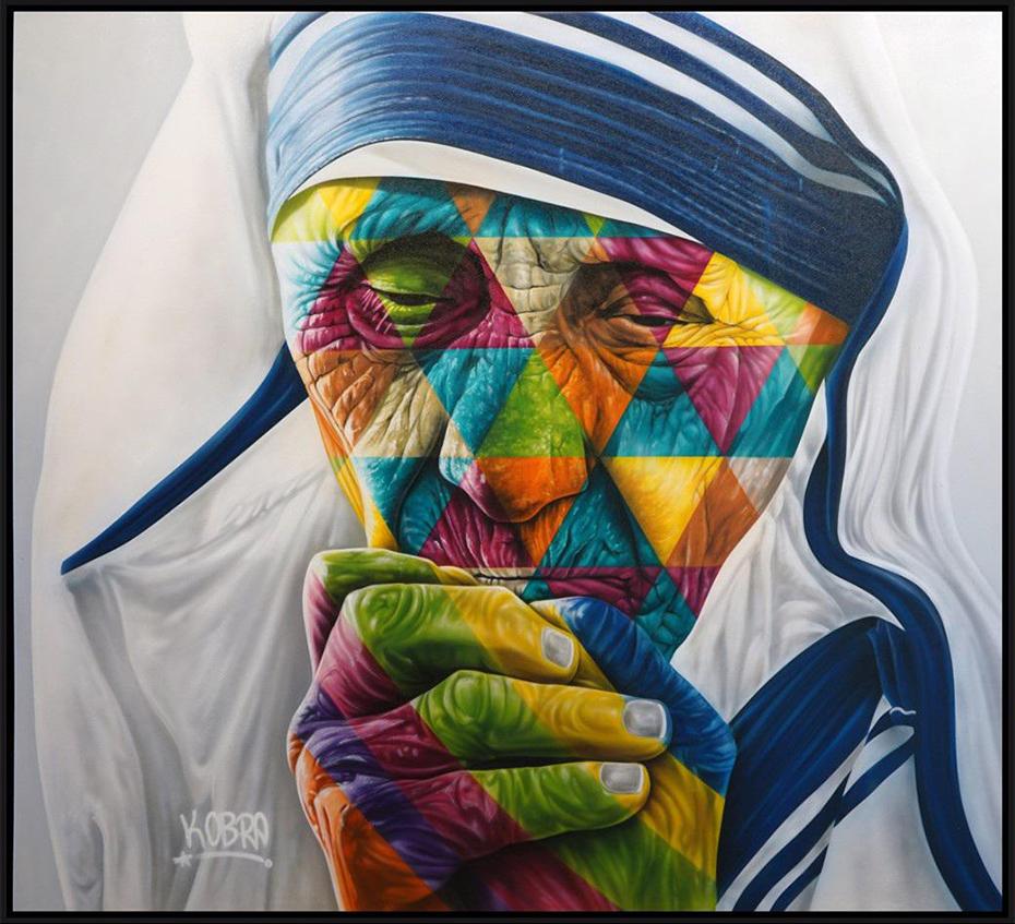 Mother Teresa - Eduardo Kobra - Eden Gallery