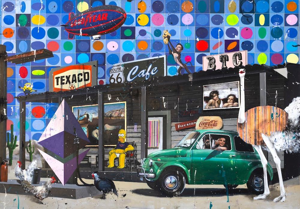 Vasarely in Texas  Sky - Angelo Accardi - Eden Gallery