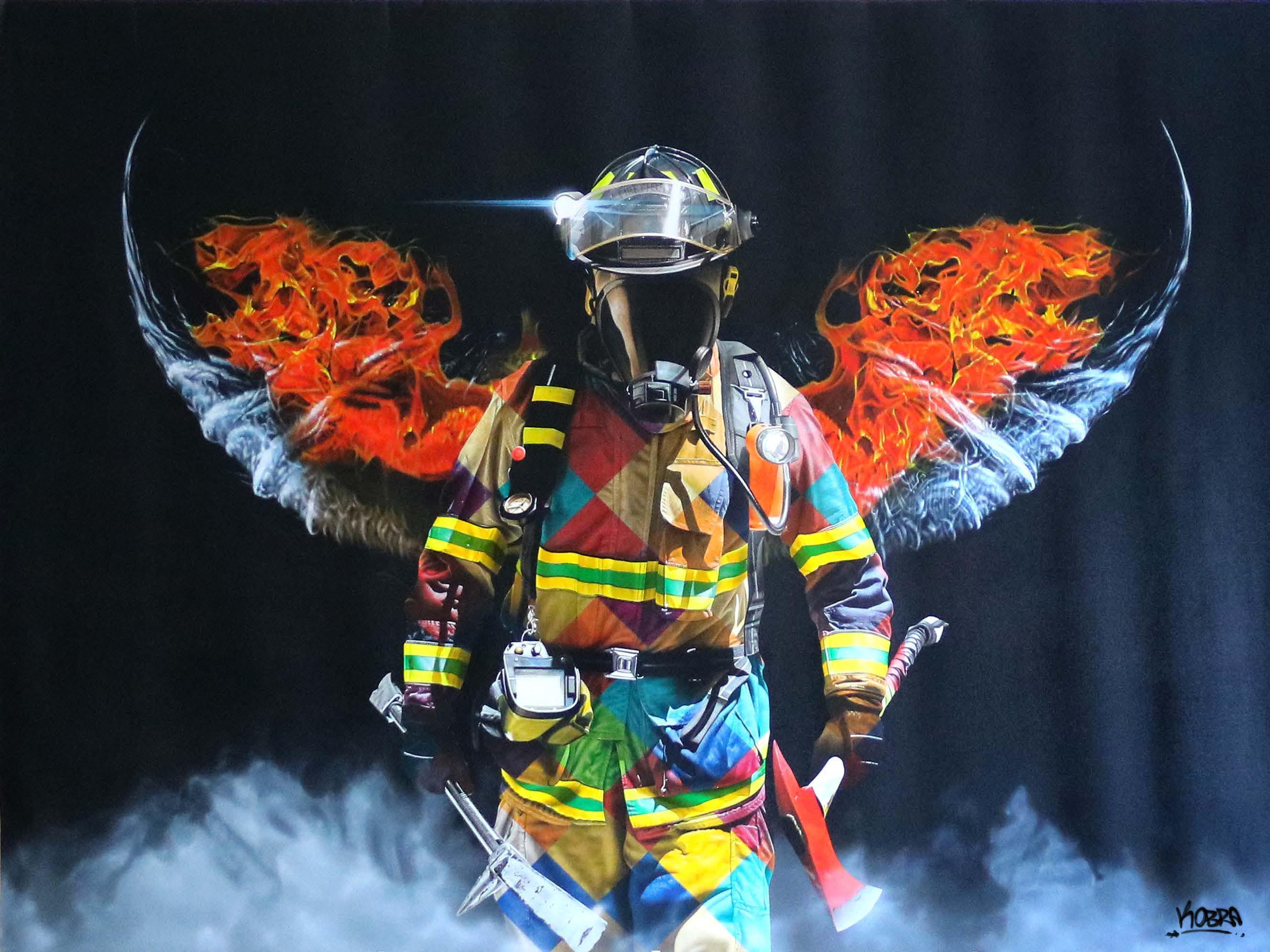 Fire Angel  - Eduardo Kobra - Eden Gallery