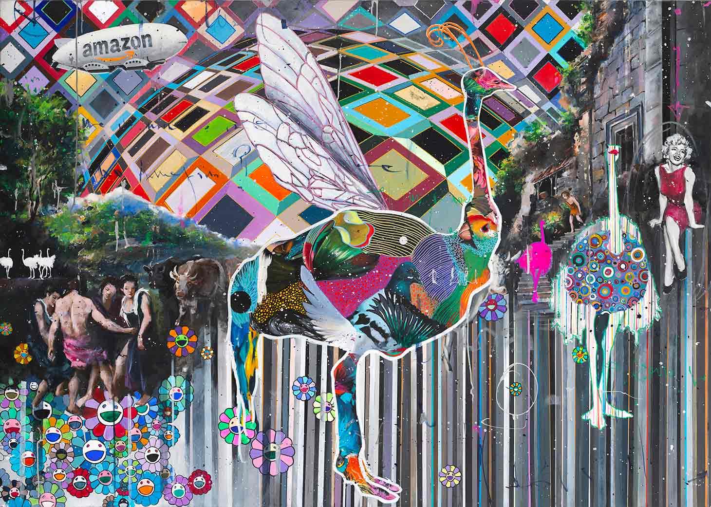 Marilyn Under This Vasarely Sky - Angelo Accardi - Eden Gallery