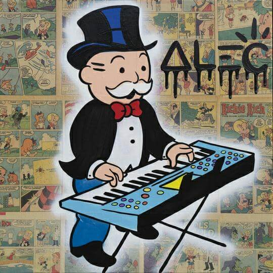 Monopoly Playing Keyboard - Alec Monopoly - Eden Gallery